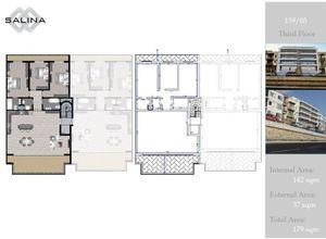 apartment for sale Naxxar Salina, 142 ㎡, bedrooms: 3
